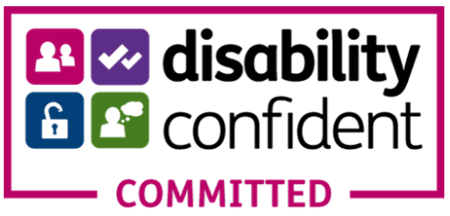 Logo for UK Disability Confident scheme