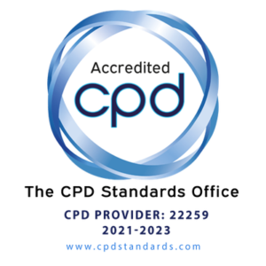 Image of the UK CPD Standards Organisation (CPDSO) digital badge confirming Hi-Vis UK is an accredited training provider organisation with CPDSO.